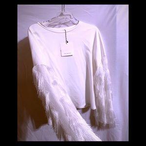 White Bell sleeve shirt
